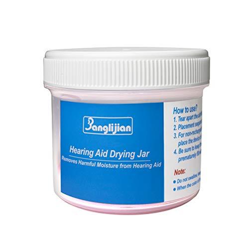 Banglijian Hearing Aid Dehumidifier Drying Jar, Drying Set (Jar, Capsule and Cleaning Kits)