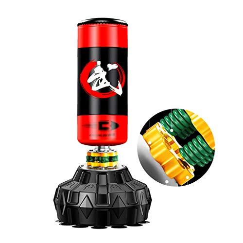 Sandsackzubehör Boxen Boxsack Sanda Vertikal Hängend Boxsack Tumbler Fitness Boxsack Kinder Taekwondo Boxen Trainingsgeräte Geeignet for Schlafzimmer Fitnesstudio (Color : Red, Size : 50 * 170cm)