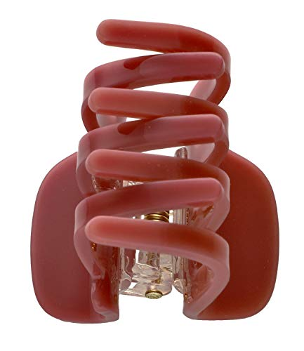 SIX Opulente Haarspange in dunkel Rosé, ideal für Hochsteckfrisuren (04-823)