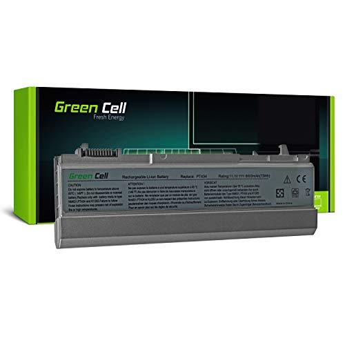 Green Cell Extended Serie PT434 W1193 4M529 Laptop Akku für Dell Latitude E6400 E6410 E6500 E6510 (9 Zellen 6600mAh 11.1V Silber)