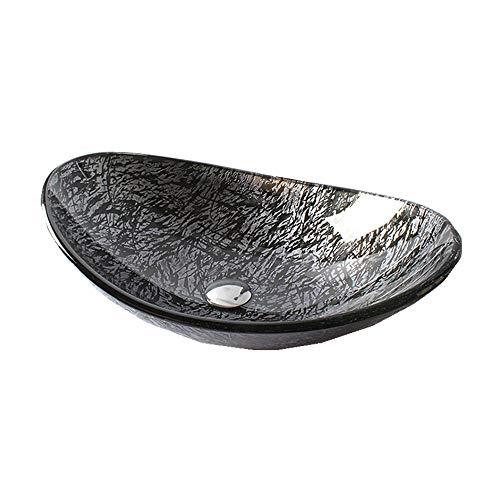 Contenitore da bagno Vessel Sink vetro del controsoffitto del dispersore del bacino lavabo in vetro Bagno Art Bacino Sopra il contro bacino del controsoffitto del dispersore del bacino lavabo da appog