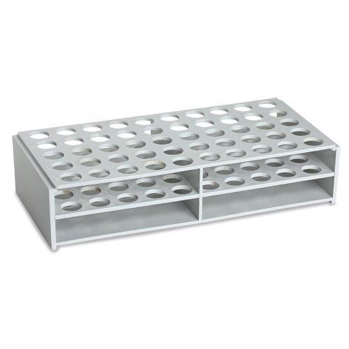 Karter Scientific 208X2 Plastic Test Tube Rack for 16mm Tubes, ABS material, White