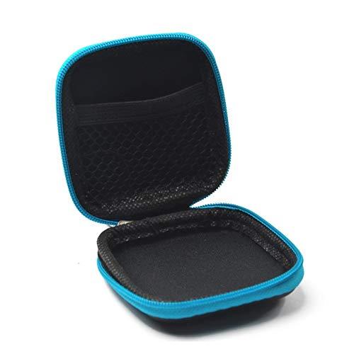 Sungpunet Mini étui de rangement carré pour écouteurs, écouteurs, câble USB, carte SD, TF, noir