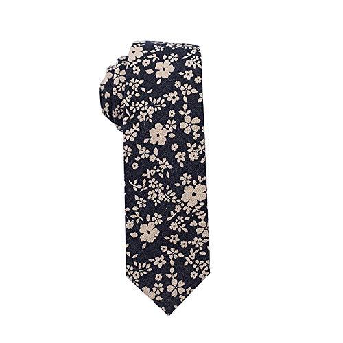PGDD Neue Herren lässige Leinen Krawatte Baumwolle und Leinen Bedrucken Herren Blumenkragen 0083