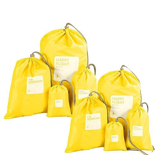 Abaría - Organizadores de bolso impermeable (8 unidades) - Bolsas de cuerda...