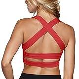 Snailify Women's Sports Bra Criss Cross Racerback High Impact Yoga Running Wirefree Bras - Yoga Gym Workout Bra