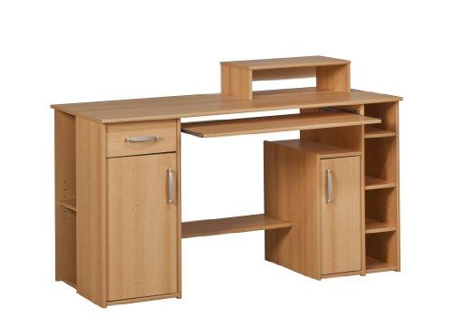 MAJA-Möbel Computertisch 1929 5531 | In Buche-Nachbildung | 139 x 91,5 x 60 cm