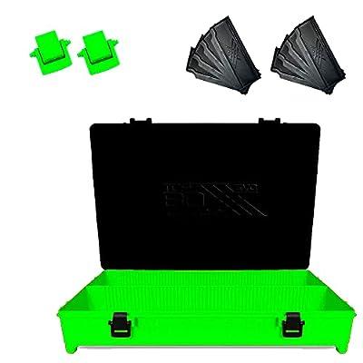 Evo 3POD - Caja de pesca Top Boxxx Evo (2.18) | Soporte superior del cajón/Seat Box | Accesorio ideal para el equipo de pesca como bobinas, hilo, carretes | Fabricado en Italia – Color verde
