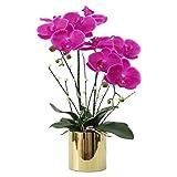LZL Flores Artificiales Set en el crisol de la Mariposa Orquídea Flores Falsas con el florero Ornamento decoración del Equipamiento casero del Arte Flores Artificiales for la decoración (Color : A)