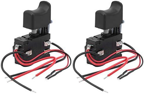 Power Tool Trigger Switch Plastic en Aluminium Materiaal 2 stuks Elektrische Switch Trigger 7224V 16A DC Industrieel Gereedschap