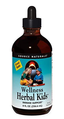 Source Naturals Wellness Herbal Kids Liquid Immune Defense Supplement & Immunity Booster with Echinacea, Elderberry & Yin Chiao - 8 OZ