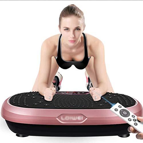 Dbtxwd Entrenadores De Vibración Power Plate Vibration Plate Inteligente para Todo El Cuerpo Fitness Plate Vibration Machine Control Remoto Masaje Magnético