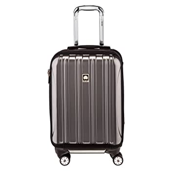 DELSEY Paris Helium Aero Hardside Expandable Luggage with Spinner Wheels Titanium Carry-On 19 Inch