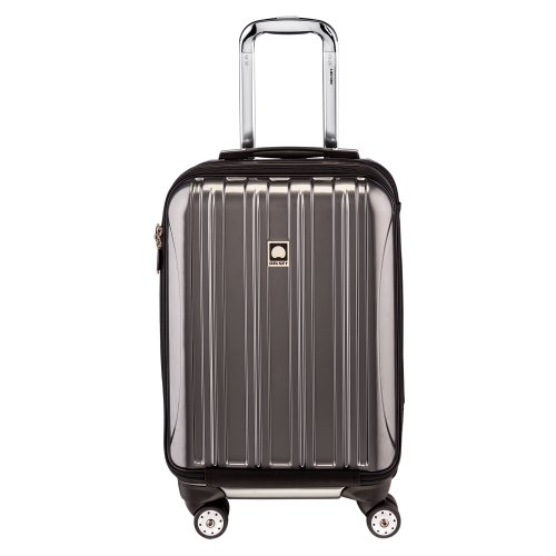 DELSEY Paris Helium Aero Hardside Expandable Luggage with Spinner Wheels, Titanium, Carry-On 19 Inch