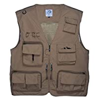 Fly Fishing Photography Climbing Vest with 16 Pockets made with Lightweight Mesh Fabric for Travel, Sports, Hiking, Bird Watching, River Guide Adventures, Safaris and Hunting.