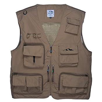 autumnridgetraders Lightweight 16 Pocket Vest for Fishing Photography or All Outdoor Activities  Dark Tan 3X-Large