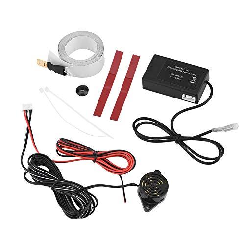 Pusokei Radar de inducción electromagnética Universal, Alarma de Marcha atrás, Sensor de Aparcamiento, Sensor de Radar de Marcha atrás, Kit de Aparcamiento electromagnético, para Coche, camión, RV