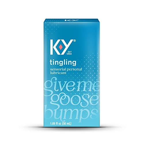 K-Y Tingling Lubricant, Personal Lubricant, Water-Based Formula, for Men, Women and Couples, 1.69 FL OZ (Pack of 3)