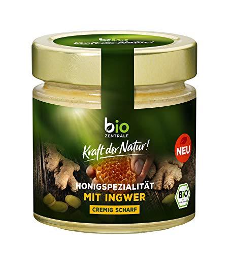 biozentrale Honigspezialität mit Ingwer | 250 g | cremig scharf | im Tee oder als Brotaufstrich | Blütenhonig mit Ingwer