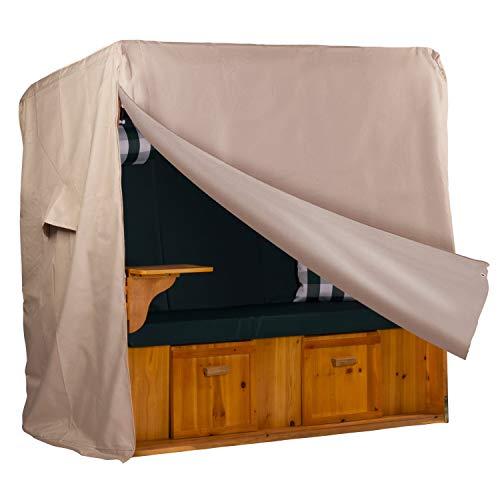 Webavita - Funda protectora para sillón de playa (tejido Oxford 600d, 155 x 155 x 90 cm), color beige