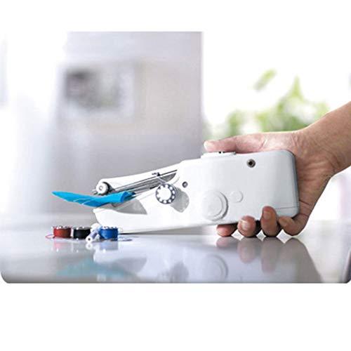 LBHH Maquina de Coser Mini Maquina de Coser Portátil de Mano,Herramienta de Puntada Rápida para Tela,Aguja y Enhebrador Uso de Viaje y Casa,Ropa o Tela de Niños,Máquina de Coser Eléctrica