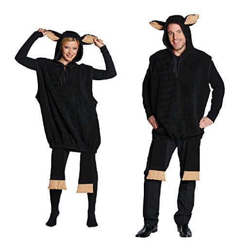Schwarzes Schaf Unisex Kostüm für Erwachsene (X-Large)