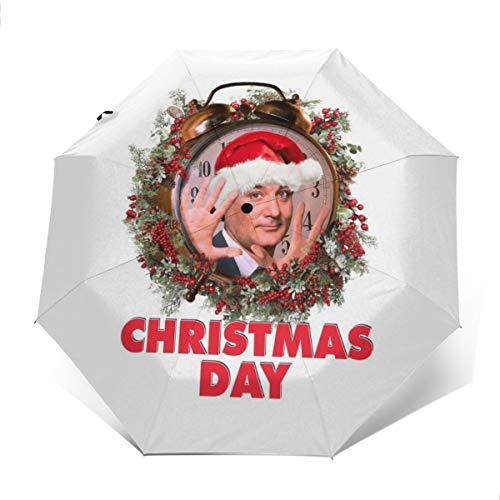 Parasol de Viaje Plegable Compacto para el día de la zarzaparrilla de Navidad, Resistente...