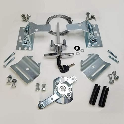 Secure Universal Garage Door Lock Kit w/ Spring Latch and Keyed Handle by Ri-Key Security