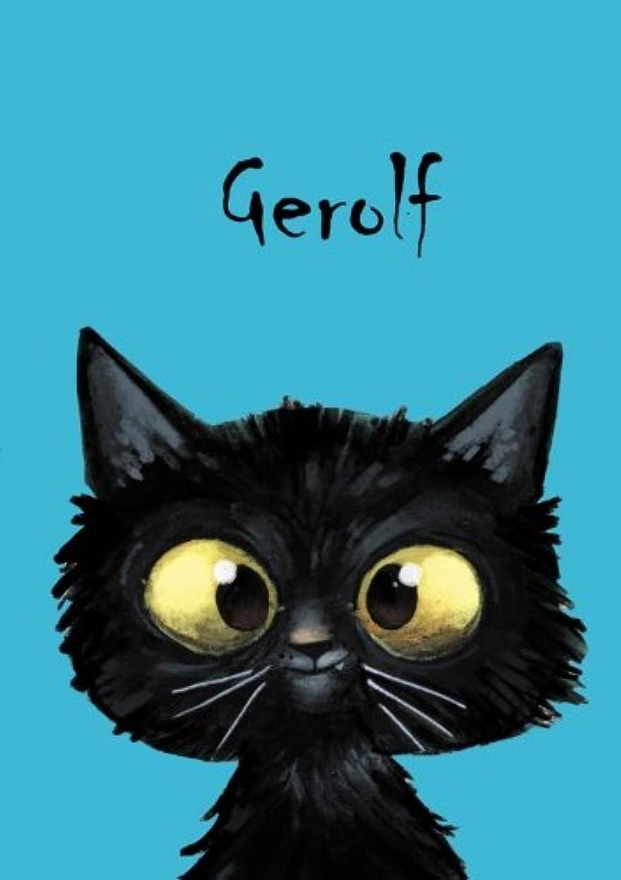 にじみ出る統治する好色なGerolf: Gerolf - Katzen - Malbuch / Notizbuch / Tagebuch: A5 - blanko