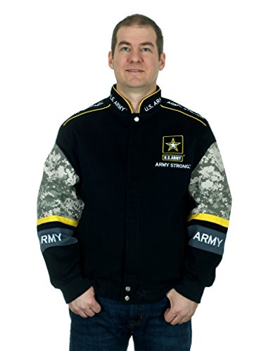 Men's US Army Logo Jacket an Officially Licensed Embroidered Coat (X-Large)
