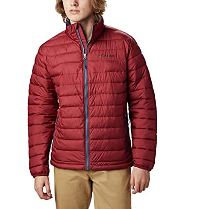 Columbia Chaqueta de esquí Powder Lite para hombre, Hombre, Chaqueta, 1698003, Jaspe rojo, Size 1X