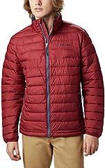 Columbia Powder Lite - Chaqueta de esquí para hombre, Hombre, Chaqueta, 1698003, Jaspe rojo, Size 1X