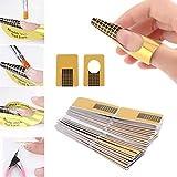 220 Pezzi Rotolo Cartine Oro Nail Art Per Ricostruzione Allungamento Sagome per Unghie,Extension model for professional UV gel nail