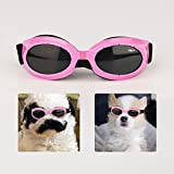 Dog Goggles for Small Dogs, Small Breed UV Sunglasses with Adjustable Head and Chin Straps, Eye Wear UV Protection Windproof Waterproof Puppy Glasses