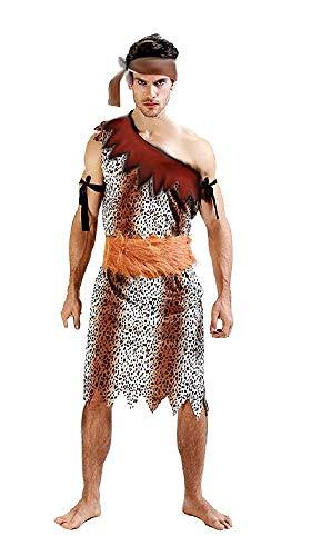 Pri09 - primitief holbewoner kostuum - primaten - holbewoners - vuurstenen - vermomming - carnaval - halloween - accessoires - one size - volwassenen - kerstverjaardagsgeschenkidee cosplay