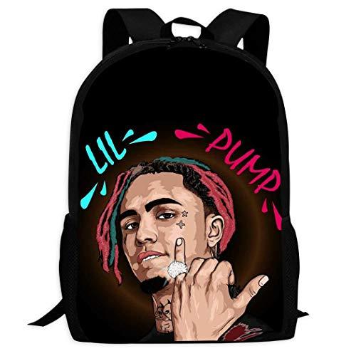 196 Lil-Pump-1 Backpack School Bag Travel Daypack Student Bookbags for Boys/Girls Students Kids