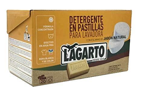 Lagarto Detergente Lavadora, 3x 40, Cajas 120 Pastillas. Matic,