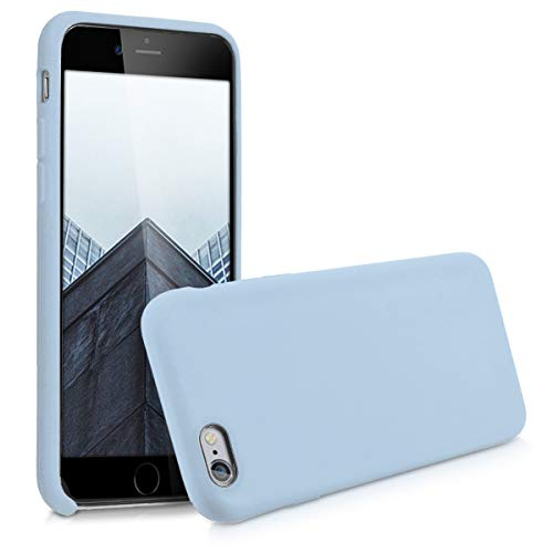 kwmobile TPU Silicone Case Compatible with Apple iPhone 6 / 6S - Soft Flexible Rubber Protective Cover - Light Blue Matte
