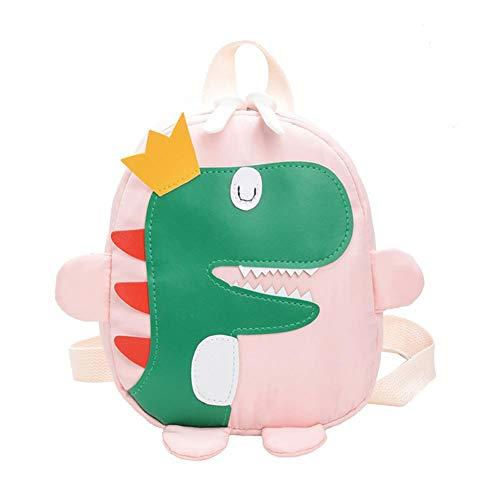 Bai You Mei - Mochila para niños, mochila infantil y materna, diseño de dinosaurio, color azul, verde, amarillo, rojo, negro y rosa