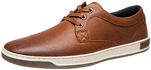 JOUSEN Men's Fashion Sneakers 3 Eyelets Casual Shoes for Men Business Casual Sneaker (7,Dark Brown)