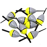 FREE FISHER 10 Pcs Fishing Bobber Cork Float Antenna Balsa Wood 3.7' 0.05oz/1.5g (3.27' 0.05oz)