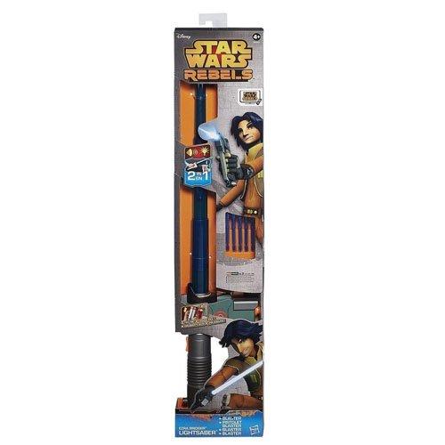 Hasbro B0653EU4 - Star Wars Rebels Ezras elektronisches Lichtschwert mit Blaster
