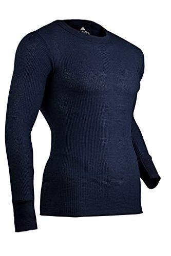 INDERA Herren Thermounterwäsche, traditionell, lang, Marineblau, Größe L