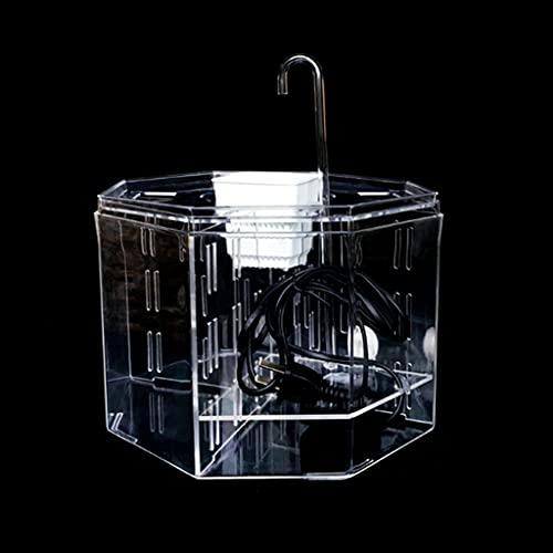 YWSZJ Tanque de Pescado de Escritorio Caja de Aislamiento acrílico Tanque de Pescado Aquario Ornamental Caja de cría de acuarios Decoración de Oficina