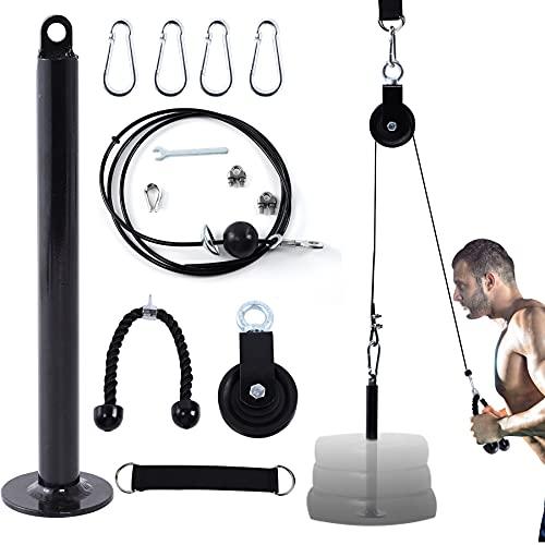 Seutgjie Poleas Gimnasio para Casa Fitness DIY Polea Cable Máquina de musculacion Entrenamiento de Fuerza del Brazo Cuerda Triceps Accesorio de Entrenamiento para Antebrazos ⭐