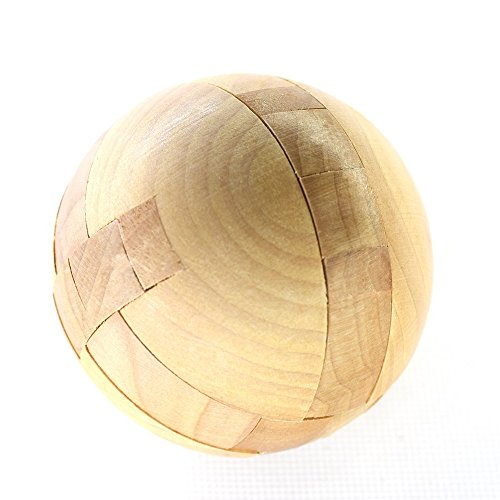 MMOO Wooden Puzzle Magic Ball Brain Teasers Toy