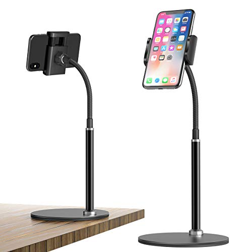 Supporto Cellulare, Telefono cellulare da tavolo regolabile Supporto per telefono cellulare multi-angolo, compatibile con iPhone 12 11 Pro Xs Max Xs 8 7 Plus, Samsung S20 S10, Altri Smartphone-Nero