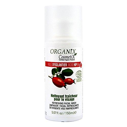 Organix Cosmetix Nettoyant Fraîcheur pour Visage 100% Bio à l'Huile d'Eglantier Certifié Ecocert 150 ml - Lot de 2