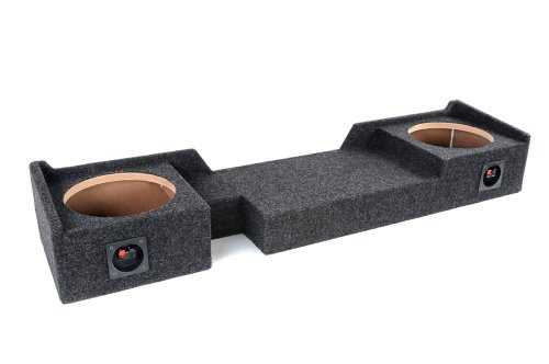 "Bbox A372-10CP Dual 10"" Sealed Carpeted Subwoofer Enclosure - Fits 2004-2008 Ford F150 Super Crew/Super Cab"