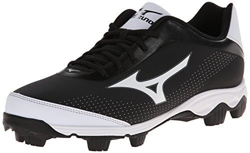 Mizuno Men's 9-Spike Franchise 7 Low Baseball Cleat,Black/White,7 M US